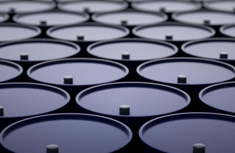 Background image of oil barrels