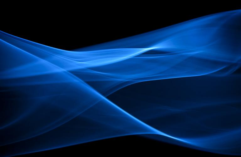blue abstract particle wave