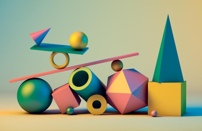 Balancing shapes