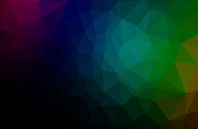 Dark background with rainbow tiles
