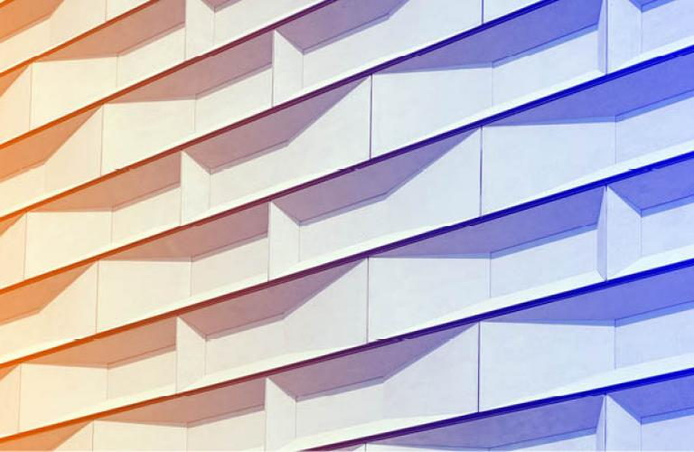 Abstract building close up