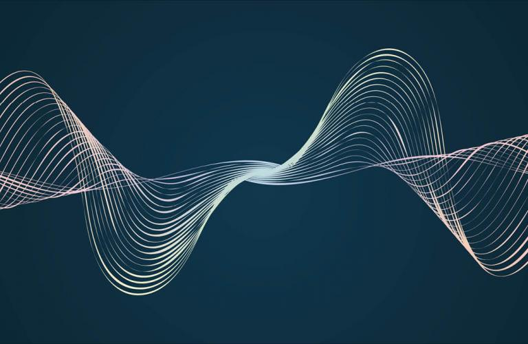 Dark background with organic flowing waves