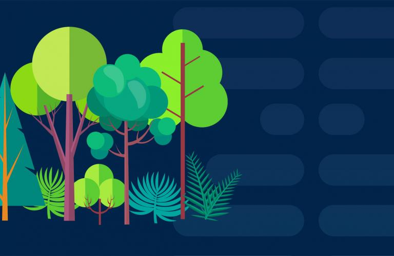 ESG Banner with Trees