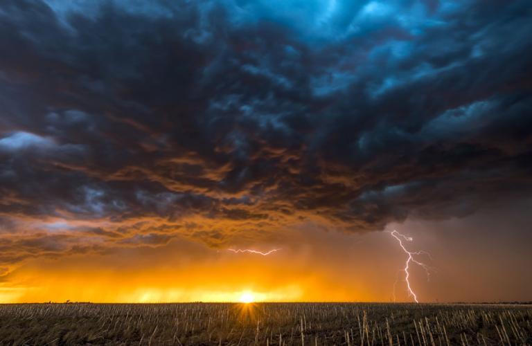 Storm Clouds over Horizon
