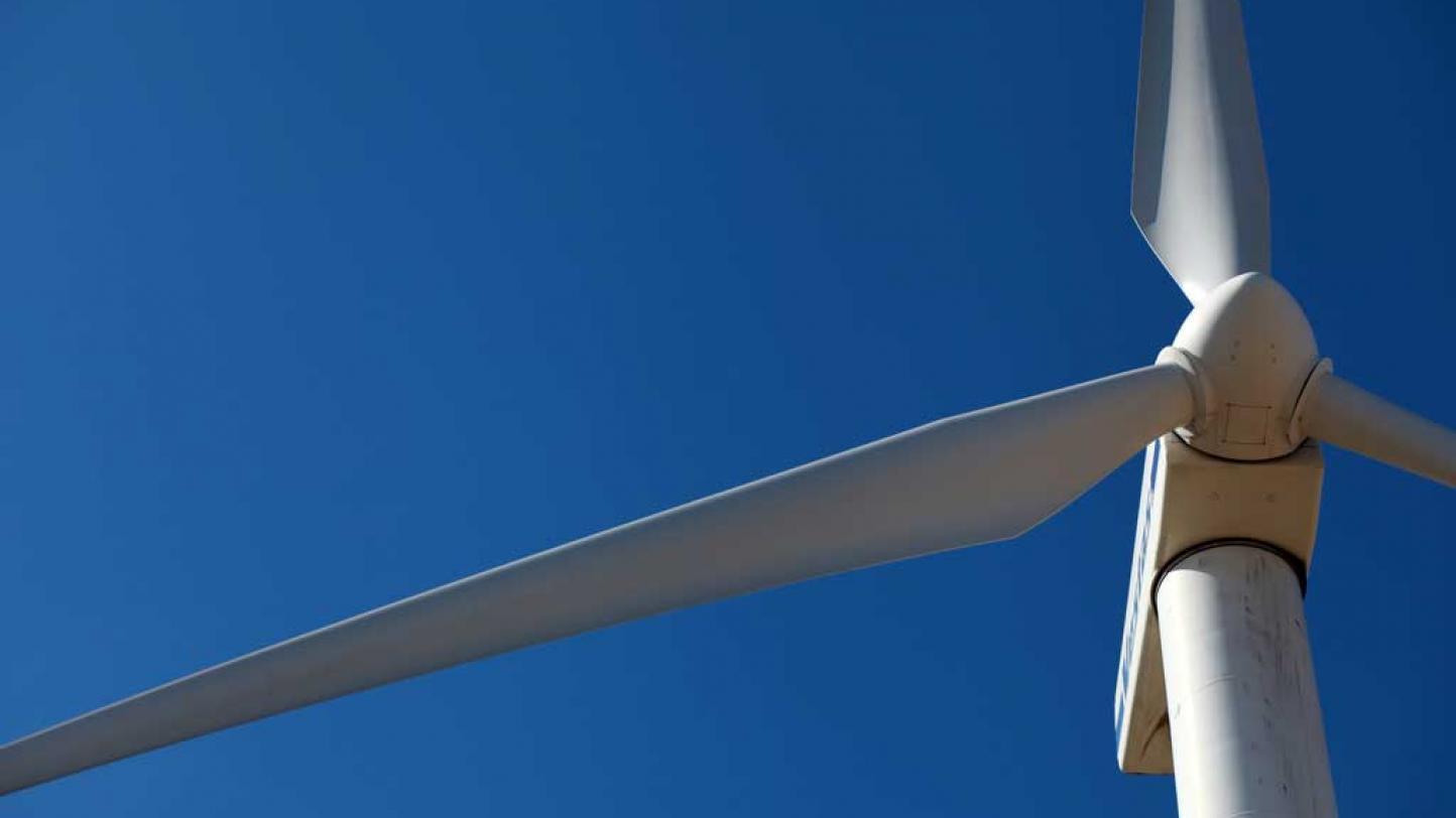 Turbines with blue Sky