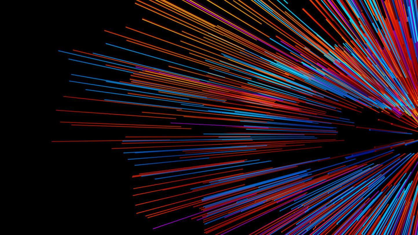 Colorful radial burst