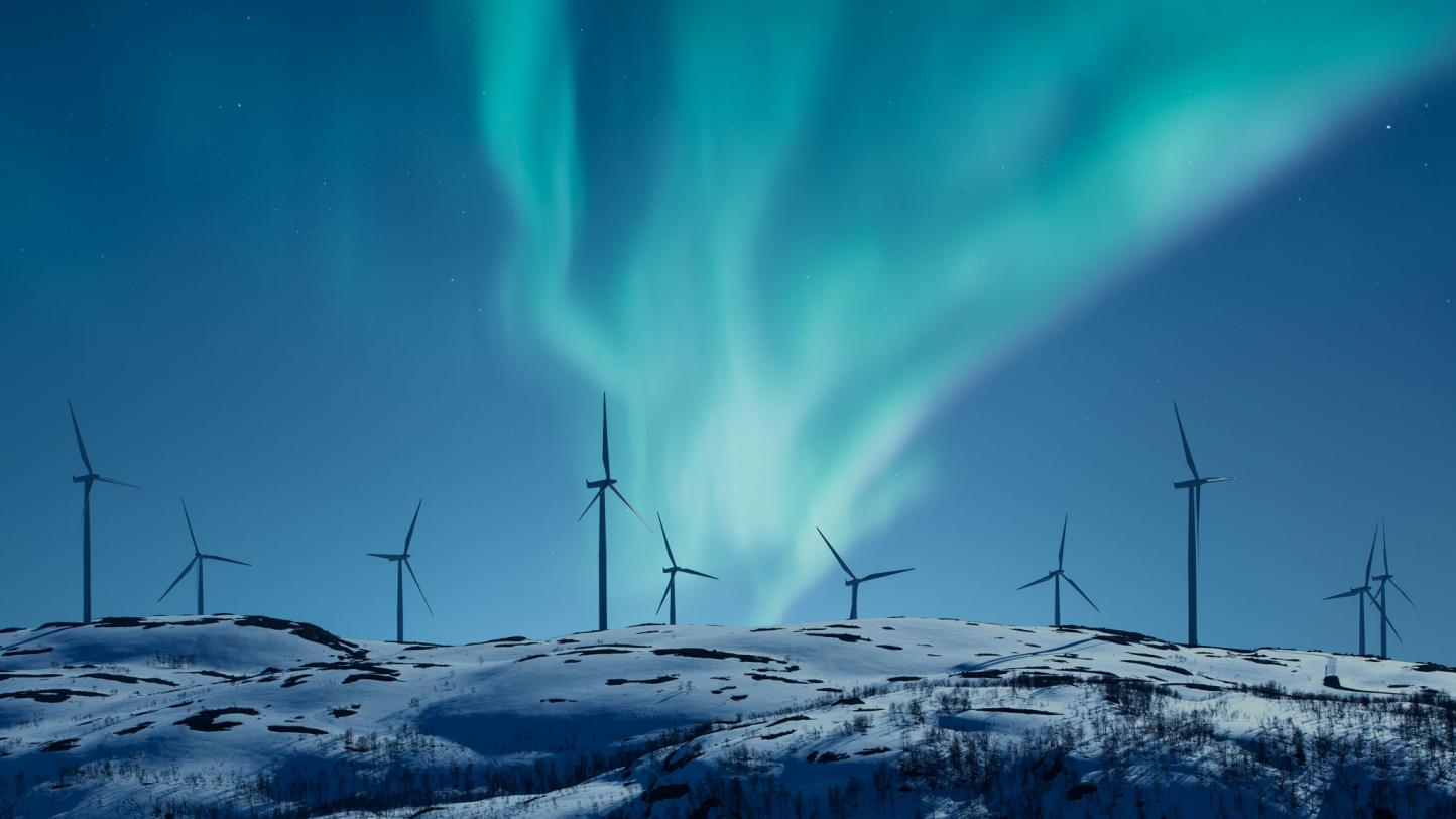 Northern Lights Wind Mills