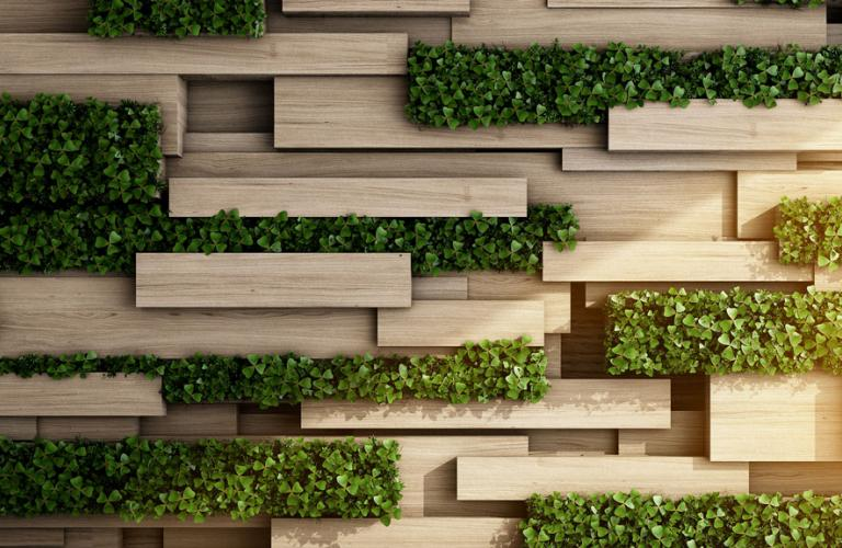 Vertical Garden with greenery