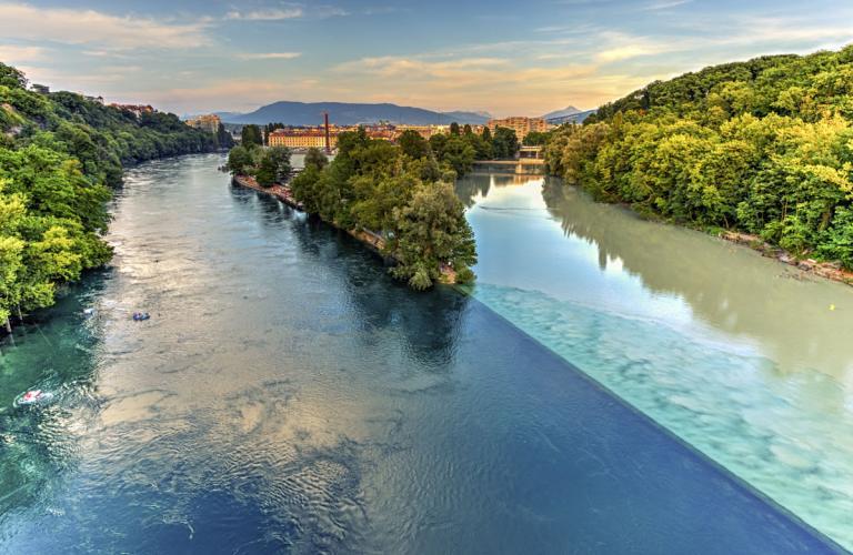 diverging rivers