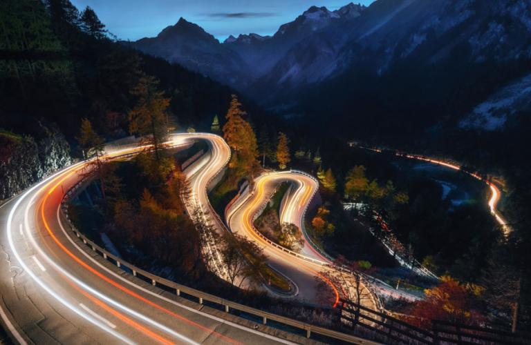 Curvy Road that demands agility