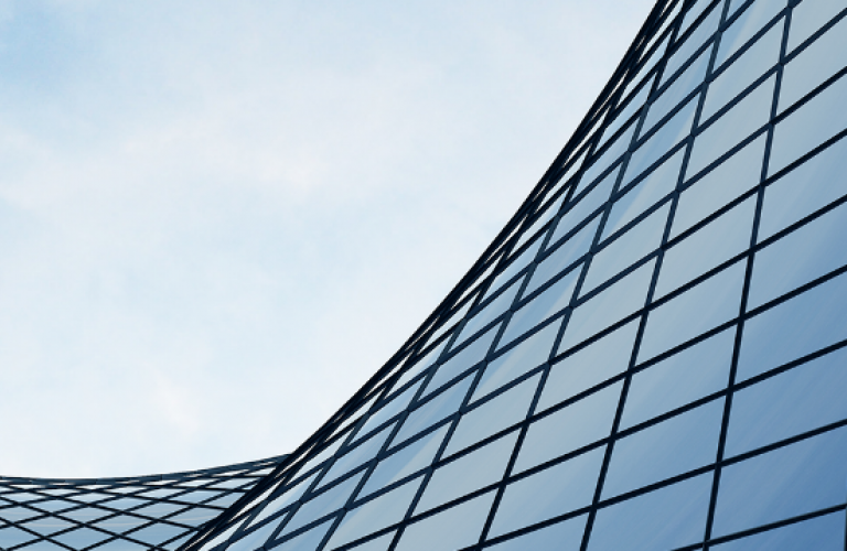 Curved Glass with Clouds, header image